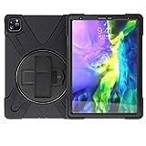 GUOQING Tablet PC Hülle Tasche Hüllen Serie 3-in-1 bruchfeste Schale für iPad Pro11 2020, sturzsicher, staubdicht, stoßfest, spritzwassergeschützt, 360 Grad drehbare Multifunktions-Griffhalterung