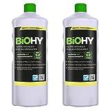 BIOHY Teppichreiniger für Waschsauger (2x1l Flasche) | geeignet für alle Waschsauger | entfernt Flecken und Schmutz mühelos | Reinigung und Pflege in nur einem Arbeitsgang