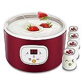 AMMZON Elektrisch Joghurtbereiter 1L Automatisch Joghurtzubereiter Joghurtmaker Joghurt- Und Frischkäsebereiter Für Zuhause, Büro, Reisen