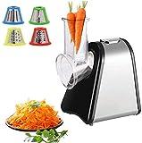 Elektrische Küchenreibe   200 Watt   4 Aufsätze   Trommeln aus Edelstahl   Elektrischer Gemüsehobel Küchenmaschine Reibe Multifunktionsreibe   Elektrisches Schnitzelwerk  