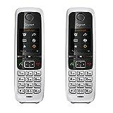 Gigaset C430HX Duo - 2 DECT-Telefone schnurlos für Router - Fritzbox, Speedport kompatibel - 1,8 Zoll Farbdisplay - 2 Mobilteile mit Ladeschalen, Schwarz-Silber
