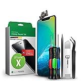 GIGA Fixxoo Display-Set für iPhone X  Reparatur-Set komplett mit Werkzeug-Kit, Ersatz Bildschirm, Retina LCD Glas mit Touchscreen (wie Original Display)
