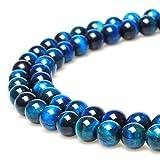 jartc Perlen Für Energie Armbänder Yoga Armband Armband DIY Natürliche Perlen Himmelblaues Tigerauge 45 Stück, 34 cm, 8 mm