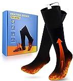 PECHTY Beheizte Socken, Fußwärmer Elektrisch, Wiederaufladbare Warme Socken, 3 Heizungseinstellungen Thermosocke für Outdoor-Sportarten, Angeln, Jag