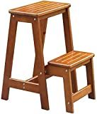 TCYLZ. Multifunktionsklug Holzleiter Hocker Stiefhocker 2 Stufe Holzstufe Leiterhocker Faltbarer Stuhl Massivholz Anti-Rutsch-Klettern, 3 Farben (Color : C)