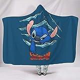 Hothotvery Kapuzendecke Gedruckte Lustige Blau Mit Kapuze Komfortabel Werfen Sie Kap Für Baby White 130x150cm