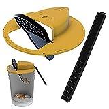Bucket Mouse Trap, Humane Bucket Mouse Trap, Flip N Slide Bucket Member Maus Rattenfalle, Auto Reset Design Balance Mausefalle für Innen und Außen (5 Gallonen Eimer) (2)