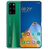Unlocked Smartphone,7,2'' HD,5000mAh Massiver Akku,10 Core 12GB 516GB,16MP+32MP,Face Unlock&Fingerprint,Green