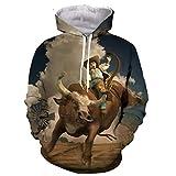 Lustige Rodeo Stierkampf Matador 3D-Druck Männer Frauen Mode-T-Shirt/Pullover/Sweatshirts/Weste/Tops Hoodie 4XL
