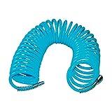 Güde 41401 SB Spiralschlauch 10 M (mit Schnellkupplung und Stecknippel, Knickschutz, Schlauchmaterial aus PU)