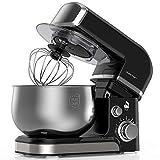 Lilpartner Küchenmaschine Rührmaschine, 1000W elektrischer Küchenmixer, 6-Gang-Teigmischer mit Kippkopf - 3,5L Edelstahlschüssel, Teighaken, Schläger Mischen, Schneebesen, Abstreifer & Spritzschutz
