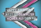 Witzige Geburtstagskarte 'Dein IQ'
