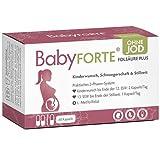 BabyFORTE® FolsäurePlus - Schwangerschaftsvitamine OHNE JOD - Vegan - 60 Kapseln bis zu 2 Monate + Kinderwunsch Vitamine ohne Jod