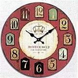 YEESEU. Haus antike Wandtisch Mute Uhr Quartz Clocks ist EIN Familienrestaurant Küchen Büro Schulen sind ideal for alle Raum D.(Farbe: -, Größe: -)