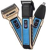 Schere Haarschneidewerkzeug Haarschneider Professional 3 in 1 Elektro Elektrische Haarschneider Nasen-Trimmer-Männer wiederaufladbare Rasierer Bartschneider Haarschneidemaschine Haarschneideschere jia