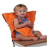ACMEDE Baby Reisehochstuhl portable Hochstuhlabdeckung tragbarer mobiler Kinderstuhl Sicherheitsgürtel/Esszimmerstuhl/faltbar und tragbar (Orange)