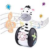 Tinabless Baby Spielzeug Zebra Tumbler Musikspielzeug - Kinderspielzeug mit LED-Leuchten/Babyspielzeug für Kleinkinder und Interaktive Lernentwicklung, Weihnachten/Geburtstag Geschenk