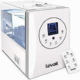 Levoit Ultraschall Luftbefeuchter 6L, Humidifier 32dB leise mit Warm/Kalt Dampf 1-12H Timer, Feuchtesensor und Fernbedienung, Dual 360° drehbare Düsen, Aroma Diffusor für Baby Schlafzimmer 40-70 m²