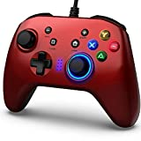 BIMONK Game Controller Wired, Gamepad mit Dual Vibration PC Gaming Controller für PS3, Switch, Windows 10/8/7, PC, Laptop, TV Box, Android