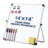 STOBOK Whiteboard, magnetisch, doppelseitig, trocken abwischbar, 14 x 14 cm, kleines Whiteboard für Kinder, Schüler