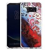 DeinDesign Silikon Hülle kompatibel mit Samsung Galaxy S8 Plus Duos Case weiß Handyhülle Wasserfarbe bunt Farbe