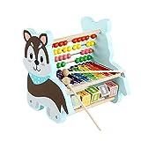 8 Anmerkungen Xylophon Music Toy, Holz Xylophone Baby Musikinstrumente aus Holz mit Abakusbrett, Montessori Pädagogische Musik Mathematik Spiele Spielzeug