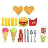 TOYANDONA 1 Set Kinder Simulation Spielen Lebensmittel Set Schnelle Lebensmittel Spielzeug Pretend Spielen Spielzeug für Kleinkind