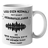 Geographie Kaffeetasse | Lustige Geographie Lehrer Bürotasse | Wir Kennen Orte An Denen Dich Niemand Findet