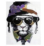 Malen Nach Zahlen Soldat der schwarzen Katze Malen Nach Zahlen Kit für Erwachsene Kinder Anfänger 40x50cm / 16x20 Zoll Zeichnung Farbe mit Pinseln Home Wanddekoration Rahmenlos