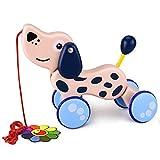 YoungRich Nachziehspielzeug, Baby & Kleinkindspielzeug,Mehrfarbig,für Kinder ab 1 Jahr (Hund)