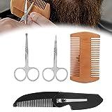 Bartpflege-Set, Bartpflege-Set Einfach zu tragen und zu reinigen für das Styling Gestaltung von Wachstum