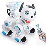 ANTAPRCIS Ferngesteuert Hund Roboter Spielzeug, Intelligent RC Hund mit Licht und Musik, Programmierbar Niedlich Interaktiv Dog Singen Tanzen für Kinder Jungen Mädchen Geschenk