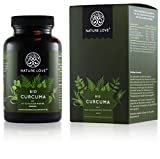 NATURE LOVE® Bio Curcuma - 240 Kapseln. 4540mg Kurkuma + schwarzer Pfeffer je Tagesdosis. Curcumin & Piperin. Laborgeprüft. hochdosiert, vegan, in Deutschland produziert