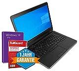 HomeOffice Laptop Notebook 14 Zoll Full HD Intel Core i5 CPU bis 2,9 GHz 4 GB RAM 128 GB SSD mit 1 Jahr Garantie, HDMI, Webcam, Windows 10 Pro + GRATIS BullGuard (Generalüberholt)