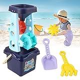 Vssictor 6er Pack Sand & Water Mill Set - Wasserrad, Formen, Spaten und mehr, Wasserstrandspielzeug für Kinder Mädchen Jungen 1 2 3 Jahre Alter Spielsand für Kinder (blaues Set)