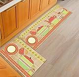 OPLJ Kreative Küche Teppich Home Küche Bodenmatte Anti-Rutsch-Teppich Eingangskorridor Türmatte Balkonbereich Teppich A15 50x160cm