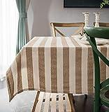 Tischdecke aus Baumwollleinen, rechteckige Tischmatte, Couchtischdecke, Schreibtischdecke, Hochzeitsgrill-Küche, 140 x 220 cm (55 x 86,6 Zoll)