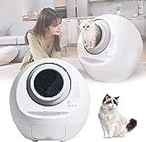 LXNQG Haustierstraftasten, Induktionsreinigung Deodorant Cat-WC, große Ultra-leise intelligente automatische geschlossene Toilette, automatisch als Katzengewicht genannt