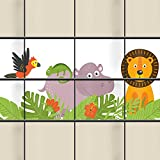 M-tec Sichtschutzstreifen - Motiv Jungle Kids - 1er Pack ≙ 2 Streifen (1x Motiv   für 1 Zaunfeld)