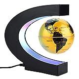 C-Form Floating Globe Beleuchtet, Schwebender Gobus Magnetische Kugeln, der Weltkarte mit LED-Lichtern Erde Ballon zur Dekoration des Schreibtischs, Weihnachtsgeschenk Geburtstagsgeschenk