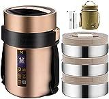 Thermobehälter Brotdose Edelstahl isolierter Behälterbehälter für warmes Geschirr, Mahlzeiten, Suppe, Obst | Für Büro und Außenbereich Lebensmittelglas | Wärmegefäß,2.2L