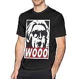 T-Shirts Herren Kurzarm T-Shirt Baumwolle Rundhalsausschnitt Kurzarm T-Shirt Tops Schwarz Wooo Wrestling Nature Boy RIC Flair