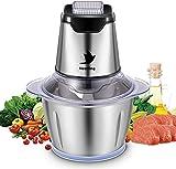 Nestling Universal Universalzerkleinerer 1.2L elektrisch Glasbehälter Küchenmaschine Zwiebelschneider Mixer,Küchenhelfer für Gemüse,600W Multi-Zerkleinerer für Fleisch,Gemüse