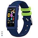 BingoFit Fitness Armband Uhr Kinder, Fitness Tracker Smartwatch mit Blutdruck Pulsmesser und Schlafmonitor, Wasserdicht Schrittzähler Kalorienzähler Aktivitätstracker für Kinder Mädchen Junge Teenager