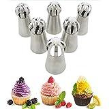AimerLife Russische Spritztüllen für Zuckerguss, Kugeln, zum Backen und Dekorieren von Kuchen, 6 Stück