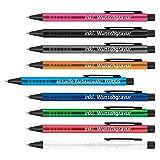 #teamludorf Kugelschreiber mit extravaganter Griffzone Express Gravur - Personalisierte Kugelschreiber aus Metall - 9 Farben & 20 Schriftarten Verfügbar (10, TÜRKIS)