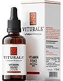 VITURALS® Vitamin D3 1000 IE + K2 20 µg Tropfen 50ml - Premium: 99+% All-Trans MK7 + hoch bioverfügbares D3 - Premium Qualität - Vegetarisch - Ihre tägliche Sonnendosis mit nur einem Tropfen am Tag