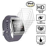 Guran [8 Stück] Displayschutzfolie für Fitbit Ionic Health & Fitness Smartwatch Volle Abdeckung Weicher Kompatibel Anti-Fingerprint HD Klar Schutzfolie Film