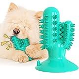 Kauspielzeug für Hunde, Kauspielzeug für Welpen, mit Quietschelement, langlebig, Zahnpflege-Zahnbürsten-Stick, Gummi-Hundespielzeug, Zahnreinigungsspielzeug (Seeblau)