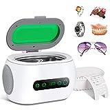 Furado 600ml Ultraschallreiniger Reinigungsgerät Entgasungsreinigung Ultraschallreinigungsgerät mit Uhrenhalter und Reinigungskorb Ultraschallbad für Brillen Schmuck Uhren Zahnprothesen